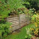 Kompoststiegen in unserem Garten