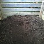 Kompost, fertig zur Verwendung im Garten