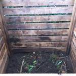 Leere Kompoststiege